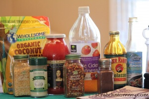 Homemade *real fod* BBQ Sauce (ingredients)