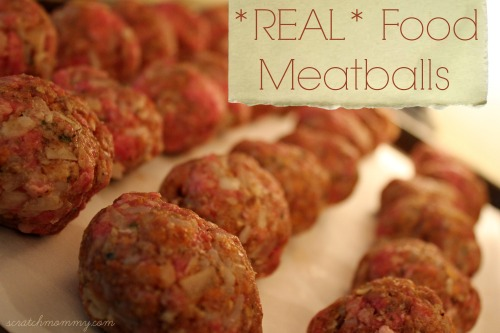 *Real* Food Meatballs (with sprouted breadcrumbs)!