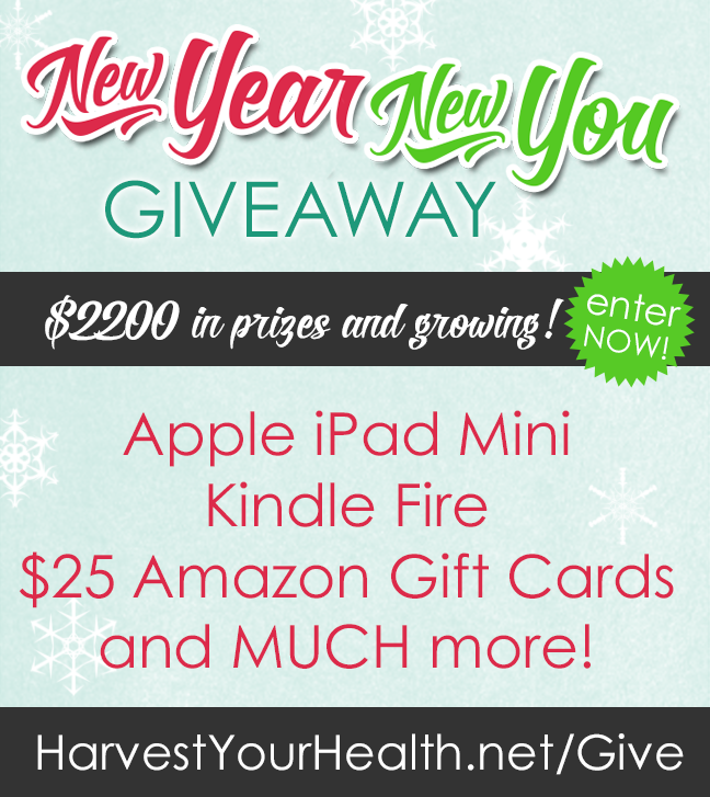Harvest Your Health, New YOU GIveaway - $2,200+ In Prizes