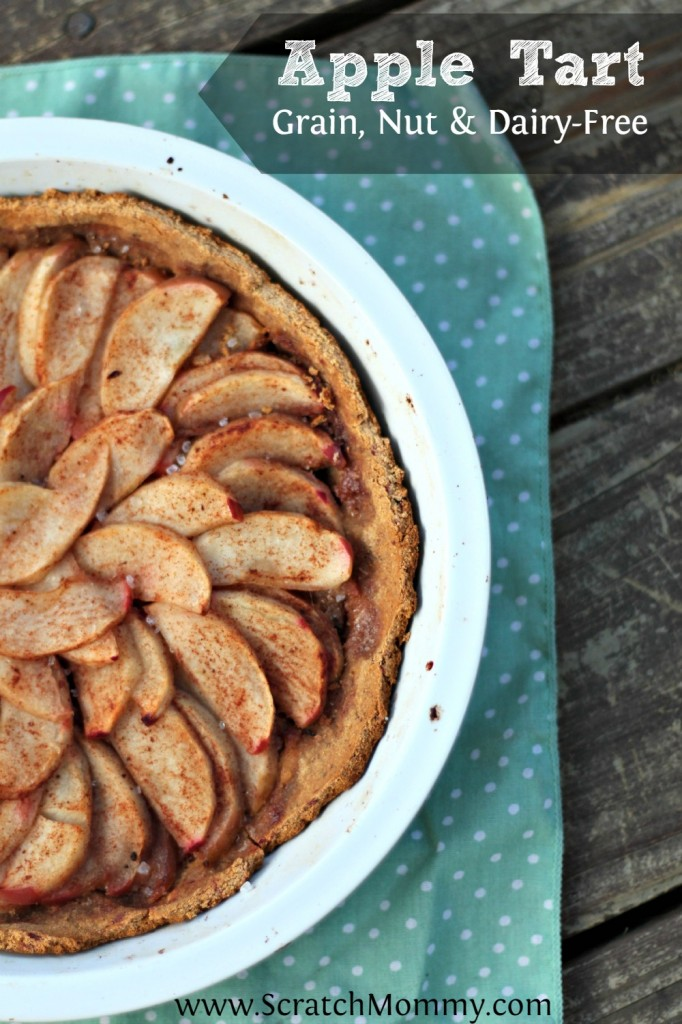 This wonderful, delicious, and easy apple tart recipe fills the air with the aromas of fall. Plus, it's grain, nut, and dairy free!