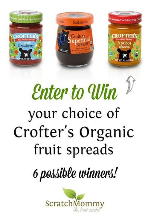 Crofter's Organic Fruit Spread Giveaway