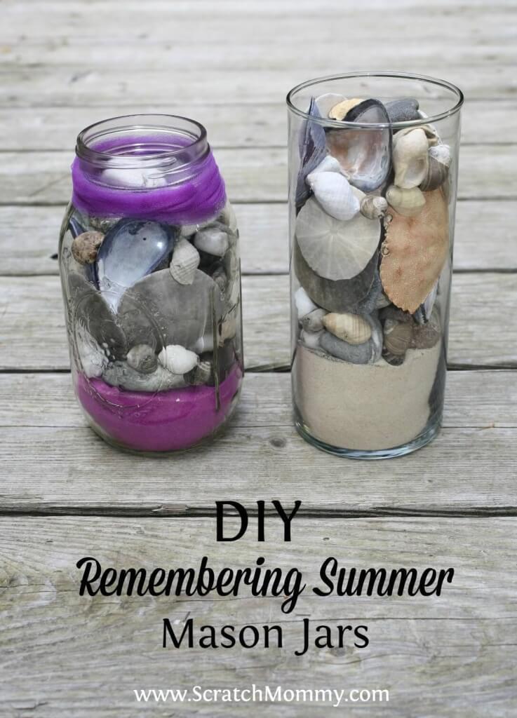 DIY Remembering Summer Mason Jar Project Idea