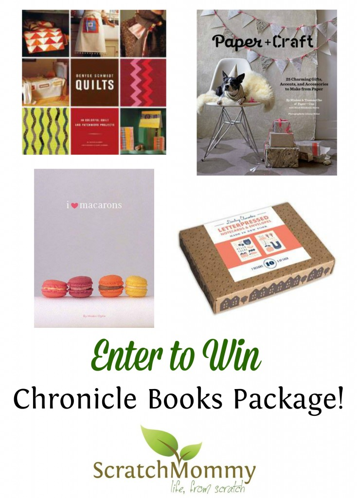 Scratch Mommy continues their launch festivities with a DIY & Craft Book Giveaway from Chronicle Books.