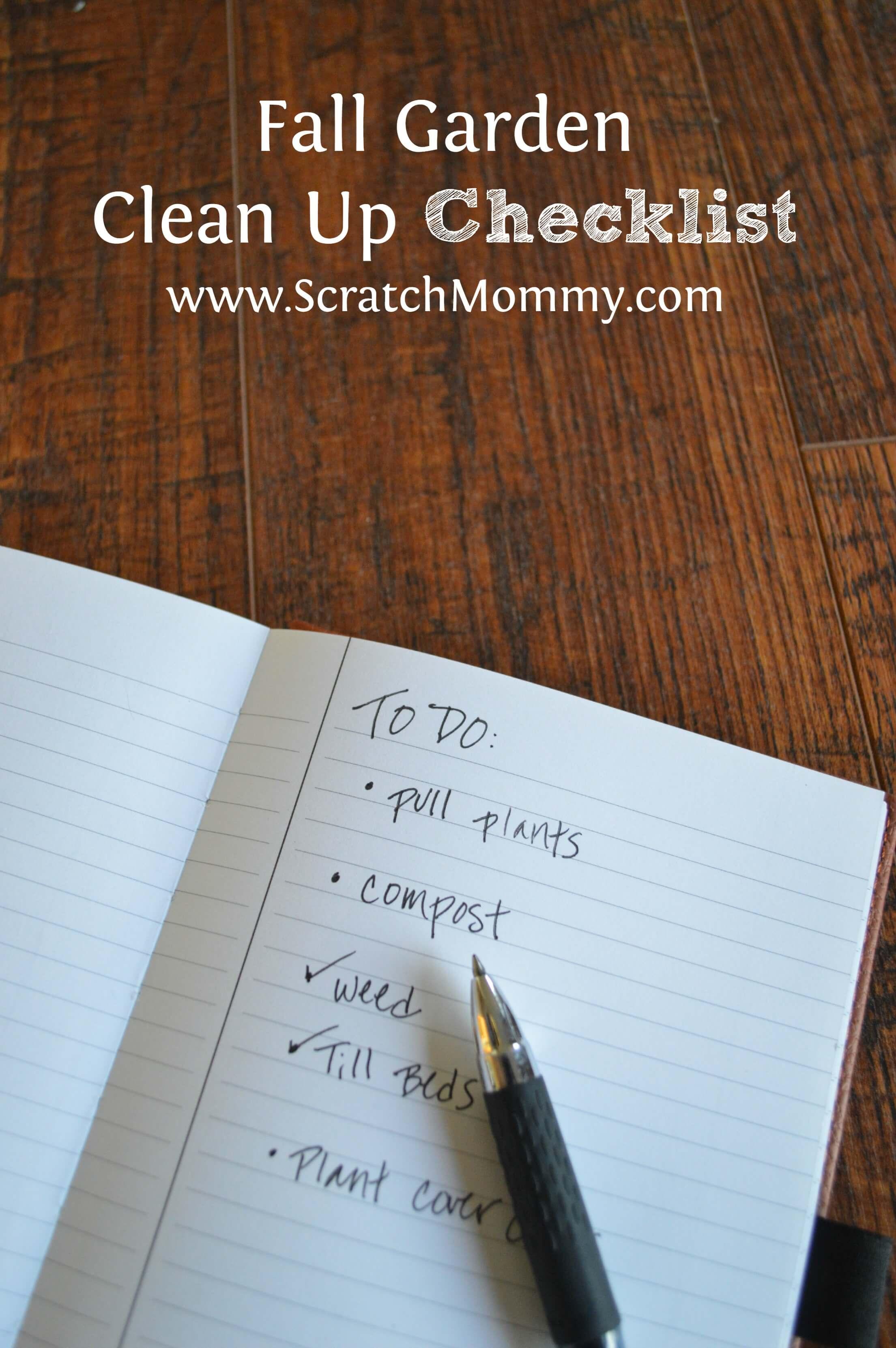Fall Garden Clean up checklist