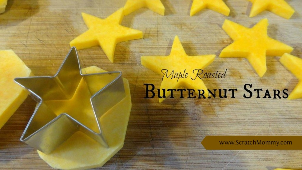 The true flavors of fall come together perfectly for these maple roasted butternut stars. They are really easy to make and the kids love the fun shapes!
