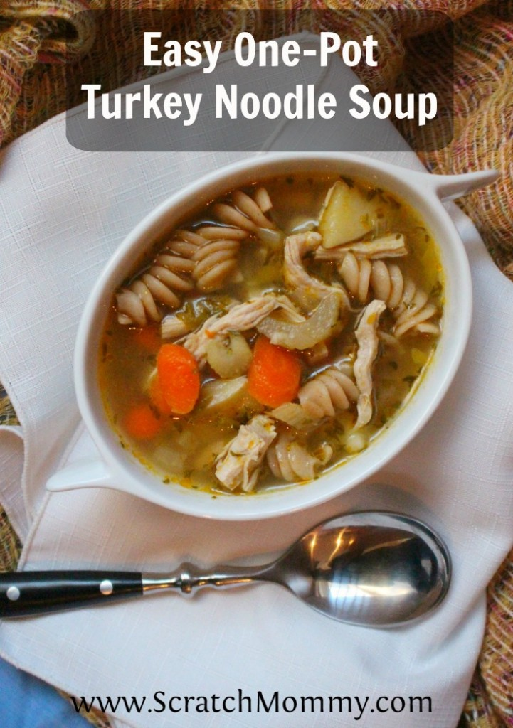 Soup is the magical dish that is comforting & healing. This one-pot turkey noodle soup is best when a loved one is sick or for leftover Thanksgiving turkey.