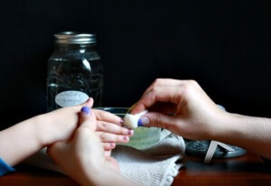 DIY Non-Toxic Nail Polish Remover that's safe for kids and your lungs - several options!