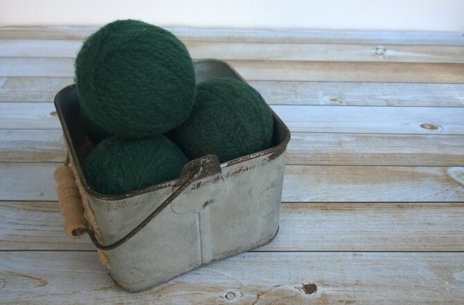 DIY Wool Dryer Balls - No need for chemicals to coat your clothes. Soften and scent with these!
