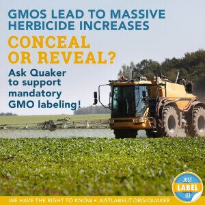 YOU can help us have Quaker Conceal or Reveal their use of GMOs - read more and sign the petition to demand mandatory GMO labeling! #ConcealOrReveal