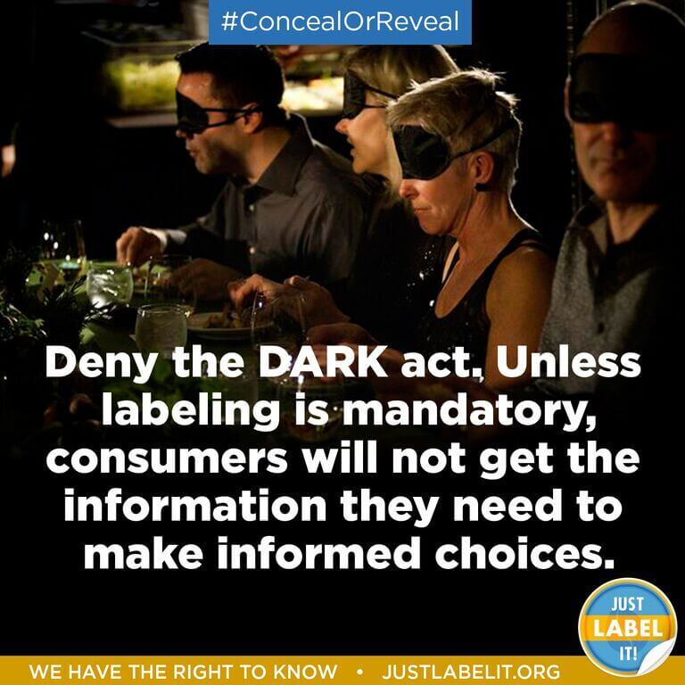 Deny The DARK Act - We want to know what we are eating. Sign the petition!