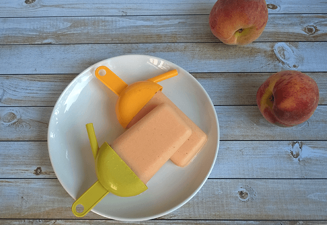 Probiotic Peach Popsicle Recipe