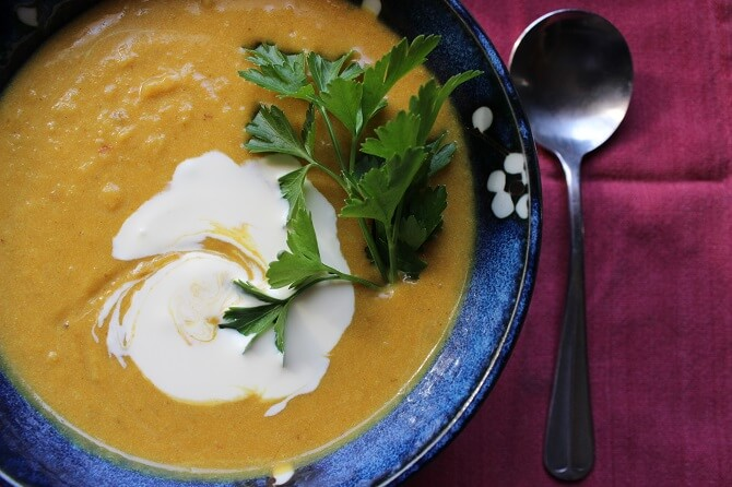Sweet Potato Coconut Curry Soup Recipe
