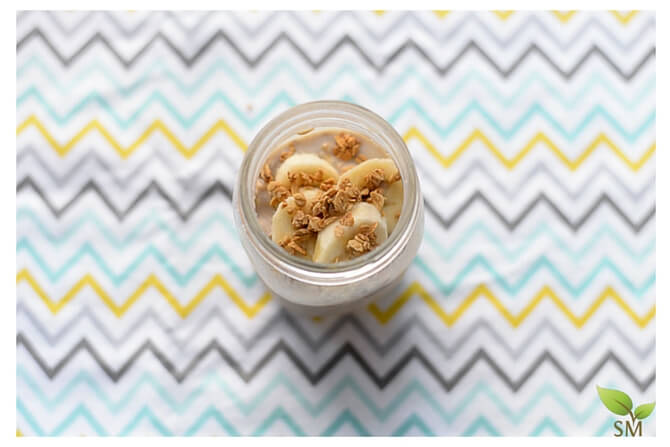 Overnight Oats Recipe Top View - Scratch Mommy