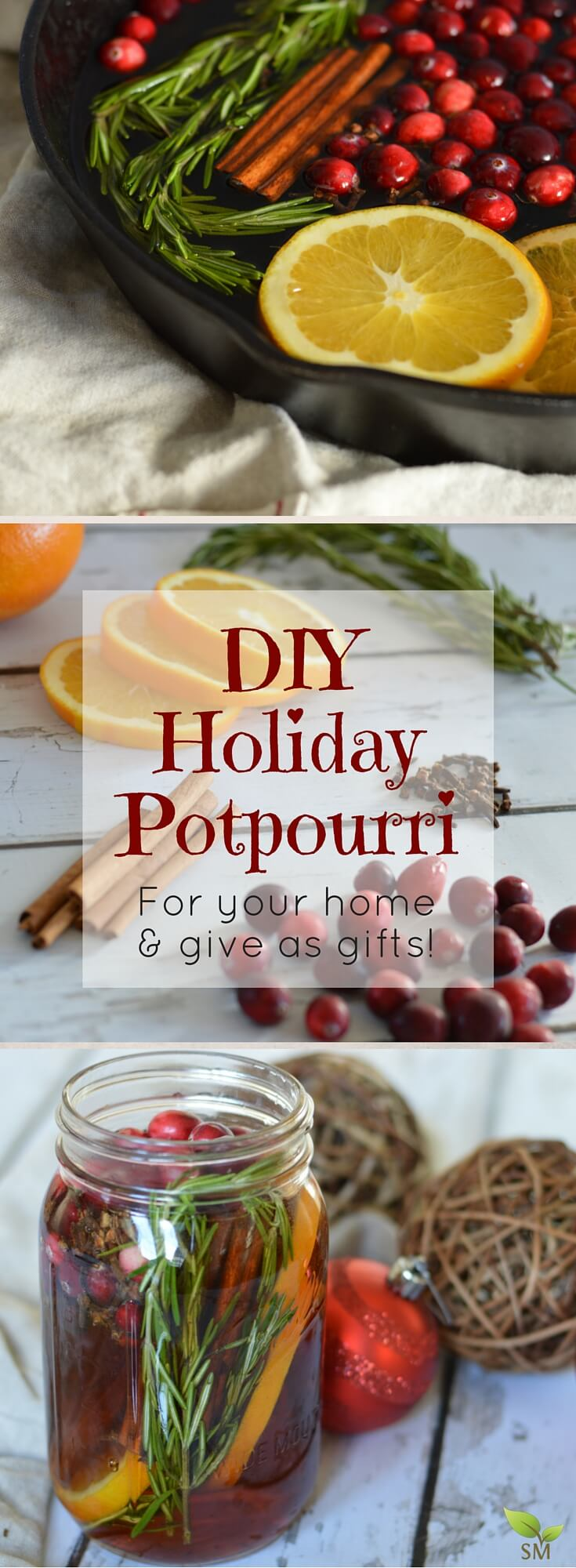 Here's a fantabulous DIY Holiday Potpourri recipe (the perfect non-toxic seasonal scent for your home AND to give as gifts in a mason jar this holiday) - Scratch Mommy