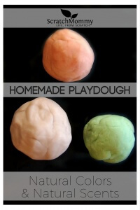 Homemade Playdough with natural colors and natural scents (customize your own DIY playdough, it's easy!) - Scratch Mommy