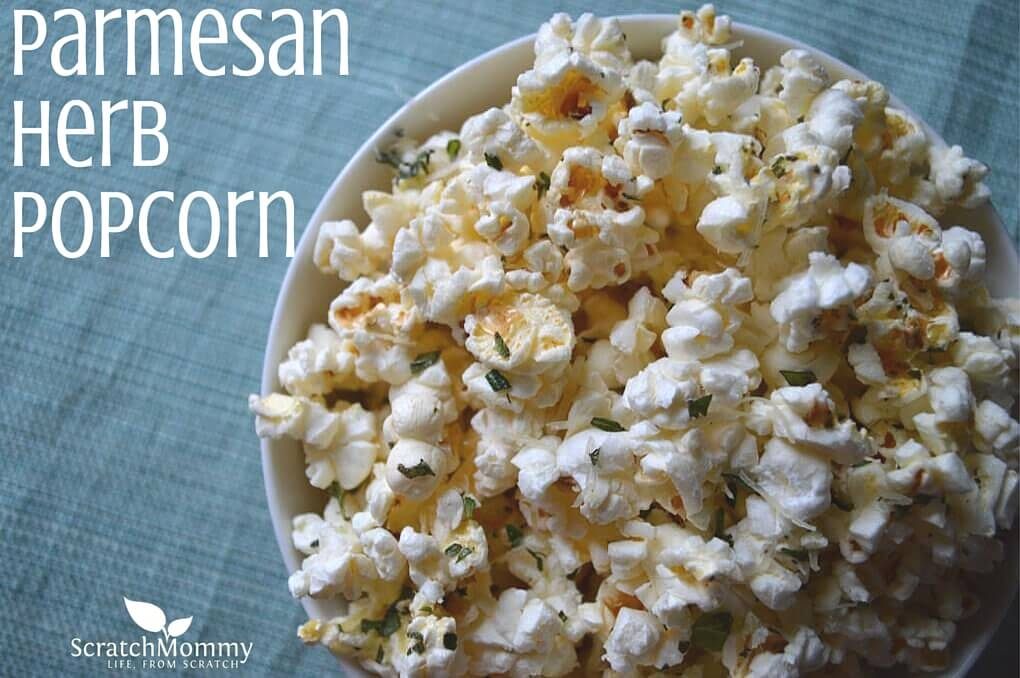 Parmesan Herb Popcorn- Scratch Mommy
