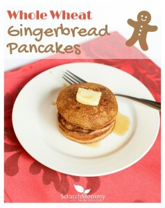 Whole Wheat Gingerbread Pancakes (truly light and fluffy and delicious!!!!) - Scratch Mommy