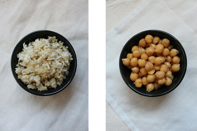 Powerhouse rice and chickpeas included in this Vegetarian Power Bowl recipe- Scratch Mommy