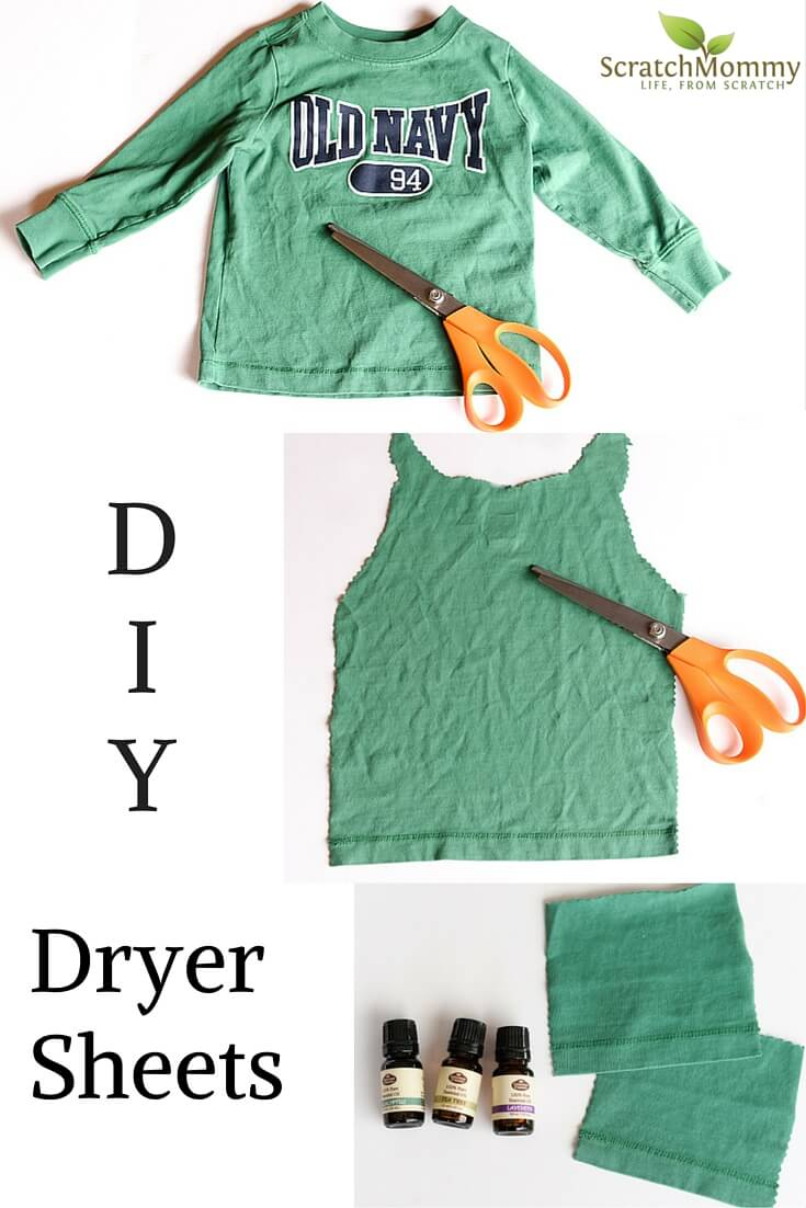 DIY Dryer Sheets (these are super easy to make, with only two non-toxic ingredients)!- Scratch Mommy