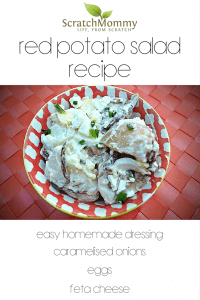 Red Potato Salad Recipe (with an ingredient from every food group, literally an entire meal in a bowl!) - Scratch Mommy