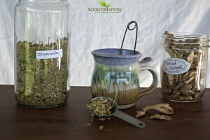 Ginger Chamomile Digestive Tea (a bitter tea to help you with digestion)- Scratch Mommy