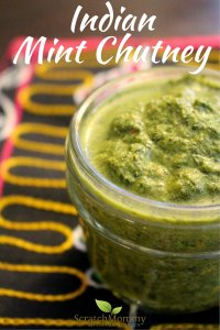 Fresh & Fragrant Indian Mint Chutney Recipe (you will want to put this on All.The.Food!)- Scratch Mommy