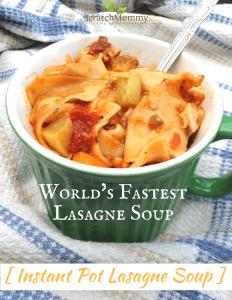 World's Fastest Lasagne Soup (Instant Pot Lasagne Soup Recipe)! - Scratch Mommy