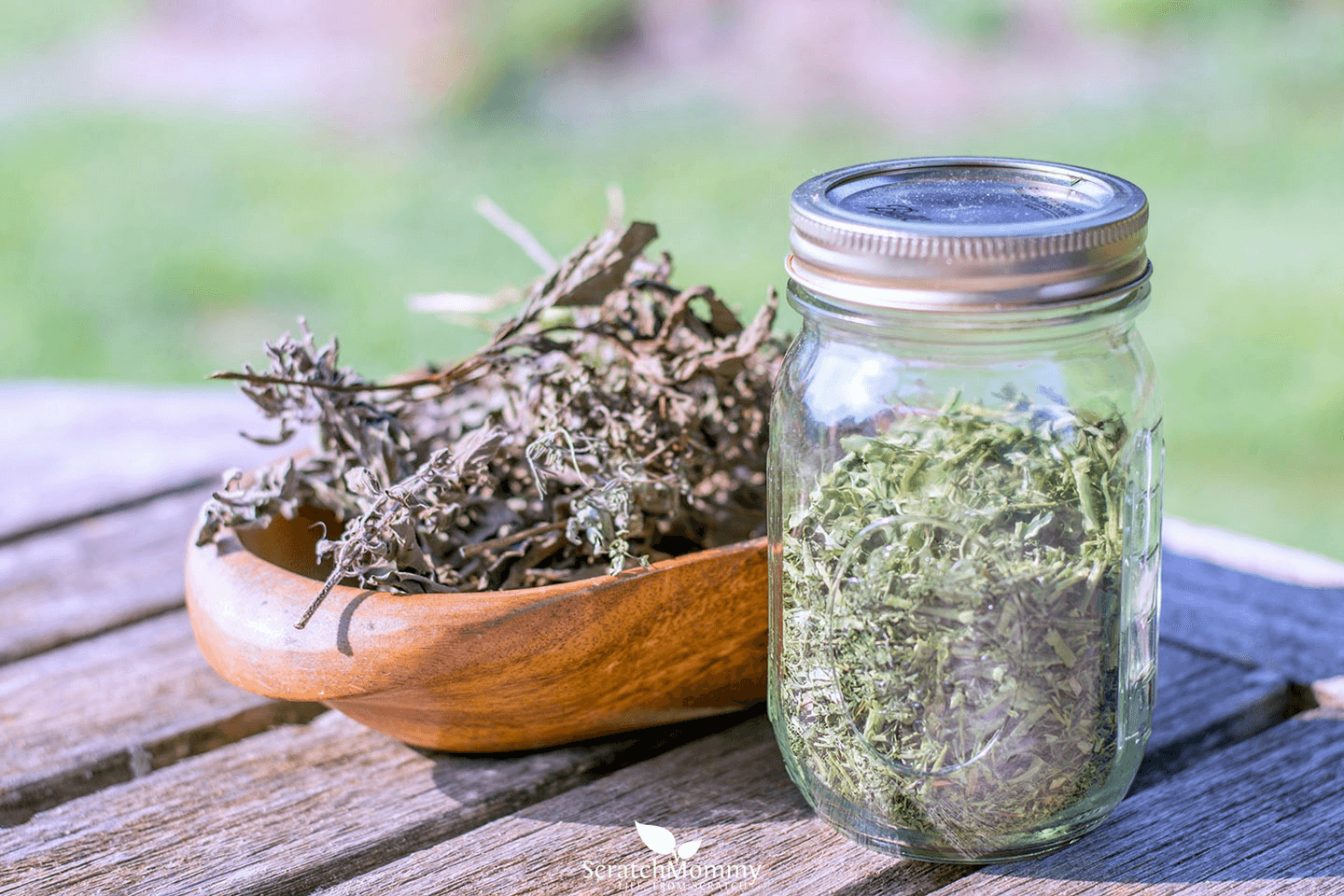 Beautiful dried herbs...an easy way to preserve your herbs for use when you have no fresh herbs. Come learn our tips for preserving herbs on Scratch Mommy!