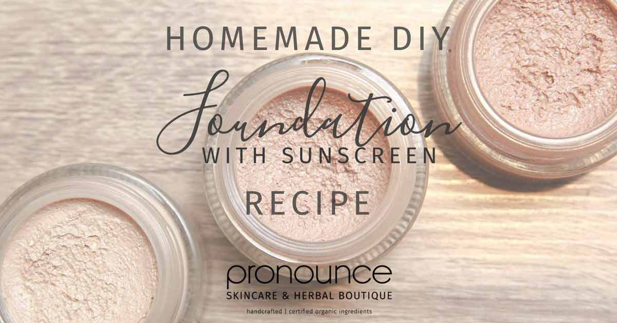 Homemade DIY Foundation with Sunscreen